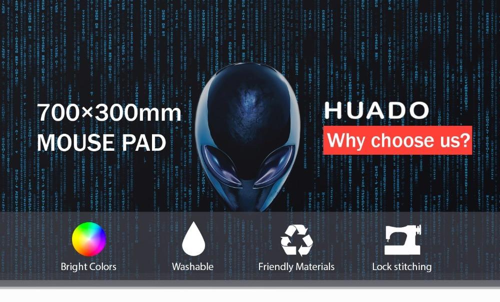 Rubber Gaming Mouse Pad keyboard mat mousepad 700*300mm desk mat for world of tanks/ cs go/ dota 2/ steelseries/lol