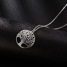 Tomtosh 2017 Life Tree Pendant Necklace Vintage Hollow Tree Silver Plated Chain Necklaces For Women