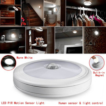 PIR Motion Sensor Magnetic Infrared LED Night Light Auto On/Off Indoor/Outdoor Passageway Stairway Wardrobe Home Battery Power(China)