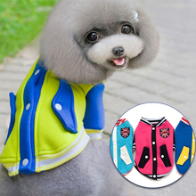 Pet Dog Winter Clothes Baseball Hoodies Jacket Chihuahua Teddy Warm Cotton Clothing Sweatshirt for Dog 14C(China)
