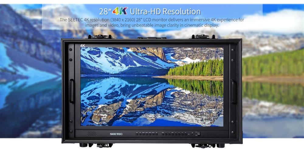 4K280-9HSD-CO 28 inch 4K Ultra-HD Resolution broadcast monitor