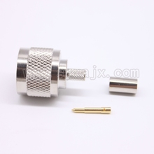 N male crimp RF Coxial connector converter N male Plug straight Crimp for RG58 RG142 LMR195 coaxial cable fast ship