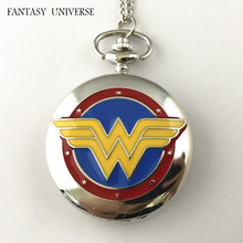 FANTASY UNIVERSE Freeshipping a lot 20PCS pocket watch batman NECKLACE Dia4.7CM RTTEWUY01(China)