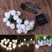 20 LEDs Solar LED String Mini RGB Auto light white / warm white Party Christmas holidays wedding Night fairy light