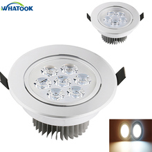 5W 7W led ceiling light AC85~265V RGB/Warm white Blue Green Recessed Spot Light For Home Lighting Spotlight for Kitchen X 80PCS(China)