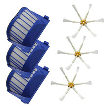 Hepa Filter + side Brush kit for iRobot Roomba 600 Series 610 620 625 630 650 660 Vacuum Cleaners Parts