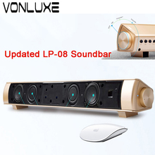 Upgraded Big Power 10W Soundbar Portable Wireless Bluetooth Speaker Stereo TV Soundbar TF Subwoofer Column for Computer Phone