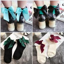 21 Colors Bow tie Harajuku goth punk unif series cool female essential hollow thin black fishnet short socks women sexy socks