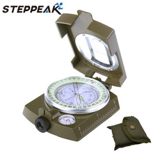 2017 Hot  Sale Noctilucent Type Army Outdoor Use Military Travel Geology Pocket Prismatic Compass,Waterproof+Pouch(CP-004)