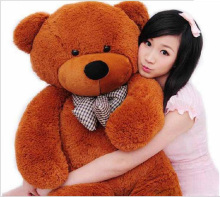 "Free Shipping 6 FEET TEDDY BEAR STUFFED LIGHT BROWN GIANT JUMBO 71"" size:160cm(China)"