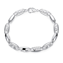 Classic Brand New 925 Sterling Silver Bracelets For Woman Man Chains Bangles With Flexible Lobster Clasps Factory Cost Sell(China)