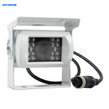 DIYSECUR New 4PIN HD IR Night Vision Car Rear View Reversing Parking Camera for Truck Van Bus Lorry White