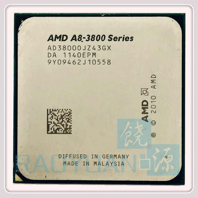 AMD A-Series A8 3800 A8-3800 2.4GHz 65W Quad-Core CPU Processor AD3800OJZ43GX Socket FM1/ 905pin,sell a6 3600 a8 3870 a8 3850