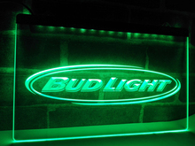 LA001- Bud Light Beer Bar Pub Club NR LED Neon Light Sign home decor crafts(China)