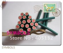 a-03 Free Shipping 100pcs 5mm Round Watermelon Polymer Clay Cane Fancy Nail Art Polymer Clay Cane(China)