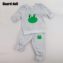 2017 style for newborn Clothing sets Cotton Character 2pcs(Full Sleeve + Pants) 0-24M Baby boy clothes suits Free Shipping