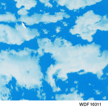 WDF10311 10 square Width 1m Blue sky and white clouds hydro graphic printing film