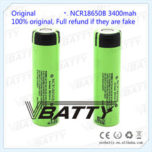 Best selling NCR18650B unProtected Rechargeable 3400mAh 3.7V 18650 battery for Panasonic with flat top(1pc)(China)