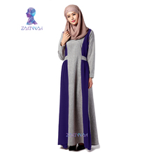 High quality women abaya hot sale turkish islamic clothing popular long sleeve muslim women dress pictures(China)