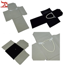 Factory Selling High Quality Foldable Velvet Jewelry Display Pendant Lockets Storage Case Necklace Organizer Roll Bag 22*18cm(China)