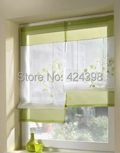 Morden small short kitchen coffee curtain for windows embroidered kitchen curtains sheer curtain tulle cortinas for windows