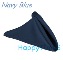 100pcs/lot Wedding&Banquet Decoration Luxury 40*40cm 100% Polyeste Navy Blue Napkin Wedding Cloth Napkins CL018
