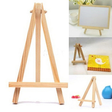 1Pcs Mini Wood Artist Tripod Painting Easel For Photo Painting Postcard Display Holder Frame Cute Desk Decor 8*15cm(China)