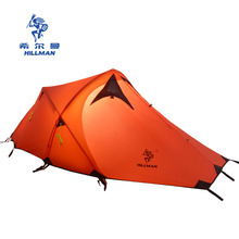 Hillman outdoor tent 2 double layer light weight aluminum pole  tent ultralight high quality camping equipment 4season tent