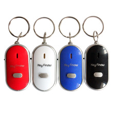 2017 New Key Finder Keychain Seeker Whistle Sensitive Anti-lost Old Age Anti-lost Alarm LED Key Chain Electronic Gift Wholesale