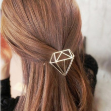 Women Hair Jewelry Trendy Silver &Gold Hair Accessorie Geometry Shaped Hairpins Metal Elegant Hair Ornaments Bridal Hair clip