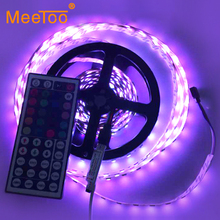 2015 Newest  Led Strip 60LED/M 300LED Epistar SMD 5050 RGB Lamps DC12V Non-Waterproof 44key IR Remoter flexible light 5M/Roll
