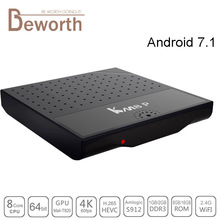 KM8 P Android 7.1 TV Box Amlogic S912 Octa Core Mini PC 1GB 8GB 2G 16G Smart Streaming Media Player KODI Wifi 4K Set Top Box(China)