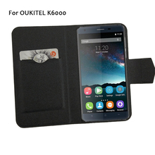 5 Colors Hot! OUKITEL K6000 Phone Case Leather Cover 2017 Factory Direct New Fashion Luxury Full Flip Stand Phone Cases
