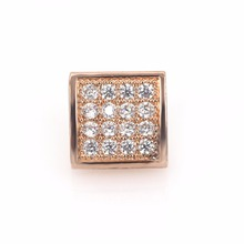 Magic Fish Beads for jewelry making New CZ Jewelry Accessories Beads Micro Pave White CZ Square bead Berloques para pulsera(China)