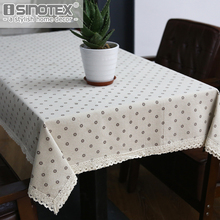 Dandelion Linen Table Cloth Country Style Flower Print Multifunctional Rectangle Table Cover Tablecloth with Lace Edge(China)