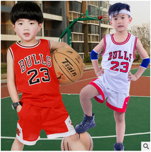 Retail 2017 Kids Summer new basketball suit sportswear set boys clothes boys clothing sets children vest+ shorts sets 2-12 years