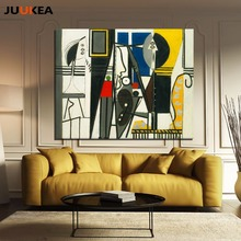 Artists Pablo Picasso Classic The Painter and Model Canvas Oil Painting Printing Art Home Decor Wall Picture For Living Room(China)