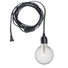 Retro Vintage E26/E27 Lamp Base Black Max 60W 4.5m Power Cord Lamp Base Holder Socket Hanging Bulb Light With Switch AC110-250V