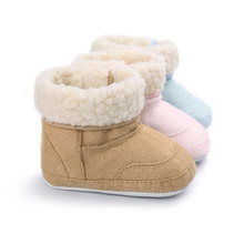Wonbo Baby First Walkers Baby Shoes Soft Bottom Warm Winter Baby Boots Toddler Shoes for Kids