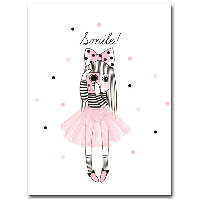 Nordic-Style-Cartoon-Girl-Unicorn-Flamingo-Poster-and-Print-Wall-Art-Canvas-Painting-Nursery-Picture-for.jpg_640x640
