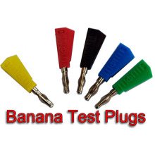 5 Color Plastic Head 4mm Nickel Plated Audio Speaker stackable Banana Plug Adapter Solder connector Test Probe Binding Post(China)