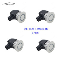 4pcs New 89341-30020-B3 PDC Parking Distance Control Sensor For Toyota Crown Majesta Lexus IS250 IS350 GS300 Silver