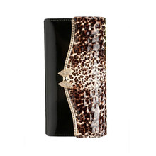 The new fashion lady genuine leather wallet Thirty percent women alligator wallet bag hand bag leopard lock zero wallet card bag(China)