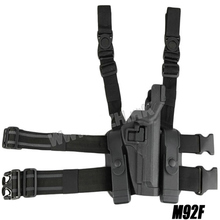 BH style Military Tactical LV3 SERPA LIGHT BEARING HOLSTER SET Compact RH Drop Leg for Beretta M9 M92 96 holster(China)