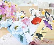 14 PCS Bookmark Butterfly Style Teacher's Gift Book Marker Stationery Gift Realistic Cute Kawaii Cartoon 3d Bookmark(China)