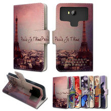 Luxury stand style printed cartoon painting flip leather case for  MTC Smart Sprint 4G,free gift,ZY05