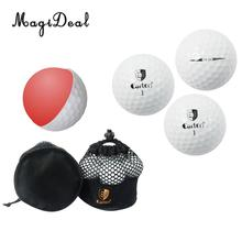 MagiDeal 10Pcs Pro Double Layer Golf Balls for Match or Practice Play - Lightweight and Flexible(China)