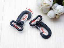 "10pcs/lot 1"" Webbing Plastic Swivel Snap Hook For Keychain Backpack Buckle Belt Strap Black"