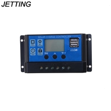 JETTING 10A 20A 30A 12V 24V intelligence Solar cells Panel Battery Charge Controller Regulators LCD Display with USB