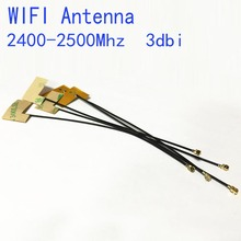 Wifi Antenna 2.4G 3dbi gain with  IPEX inner antenna connector built-in FPC soft Yellow film antenna NEW Wholesale hf antenna